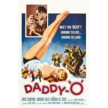 Daddy O Movie poster Metal Sign Wall Art 8in x 12in