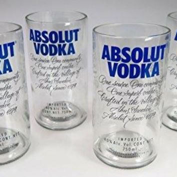 Absolut vodka glasses, hand cut, 22 oz, 750 ml, set of 4