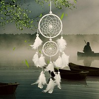 White Dream Catcher Bohemian Wall Decoration Dreamcatcher Catches Bad Dreams While You Sleep Peacefully
