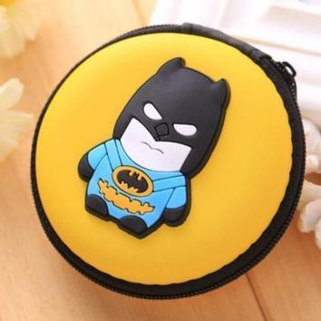 Brand New DC Comics Batman Cosplay Yellow Round Purse Coin Bag