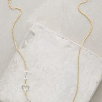 Linked Love Necklace by Anthropologie Gold All Necklaces