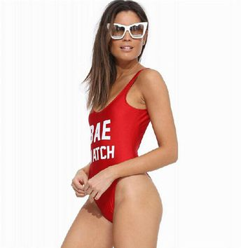 Bae Watch/Worst Behavior - One Piece Swimsuit - Backless