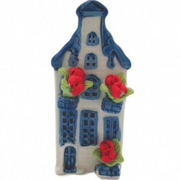 Ceramic Miniature House with Tulips