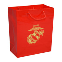 Red Gift Bag with Gold EGA - Gift Wrap & Service - Gifts | The Marine Shop