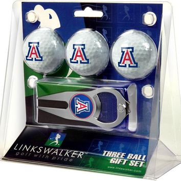 Arizona Wildcats Collegiate Hat Trick Divot Tool 3 ProVictory Ball Gift Pack