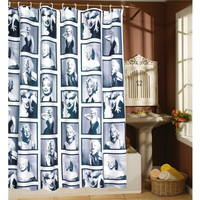 WaterProof Marilyn Monroe Pattern Shower Curtain 180*180cm