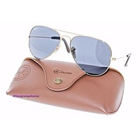 Cheap RAY-BAN RB 3025 183/R5 Solid Gold Aviator Gray Sunglasses NWT AUTH RB3025 outlet