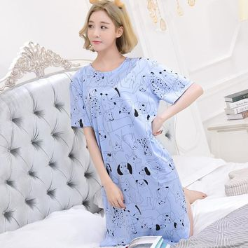 Women nightgowns sleepshirts 2017 women sleepwear summer nightgown nightdress casual home dress womens cotton nightgown
