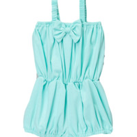 Teal Cinched Waist Romper