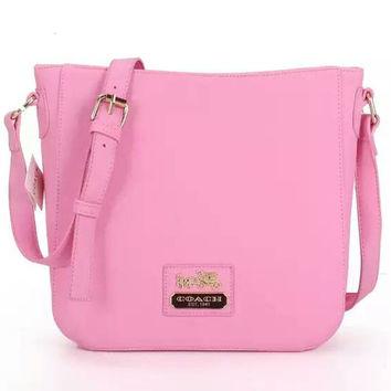 COACH Women Shopping Leather Handbag Tote Satchel Shoulder Bag Pink