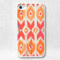 iPhone 4 Case, iPhone Case, iPhone 4S Case - Ikat Wood - 118
