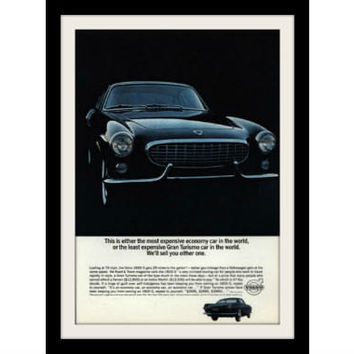 1964 VOLVO 1800S Car Ad, Vintage Advertisement Print