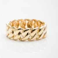 Linked Together Chain Link Stretch Bracelet - Gold from Jewelry & Accessories at Lucky 21