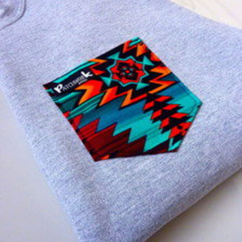 Patchwork Apparel — Navajo Pocket Crew Neck Unisex