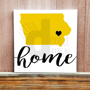 State Home Signs -  State Sign - Hand Painted Canvas - Canvas Quote Art - Wall Decor - Housewarming Gift - Custom Canvas Art - Wall Art