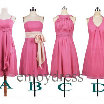 Custom Short Bridesmaid Dresses 2014 Formal Prom Dresses Hot Homecoming Dress Fashion Party Dress Ball Gowns Evening Dresses
