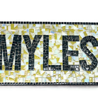 Nursery Name Art, Mosaic Wall Hanging