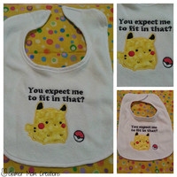 Pikachu, Pokemon Applique Bib