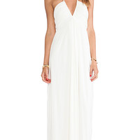 T-Bags LosAngeles Halter Maxi Dress in Ivory