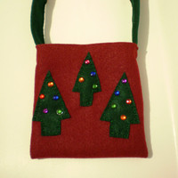 Felt Purse - Christmas Trees