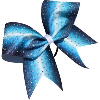 Ombre bow with scattered rhinestones