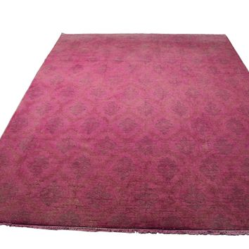 9x12 Pink Overdyed Rug Gray Faded Honey 2918