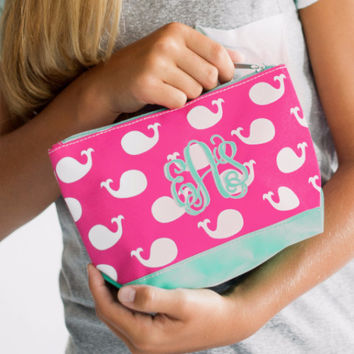 Whale of a Time - Pink Cosmetic Bag | Driftwood Market