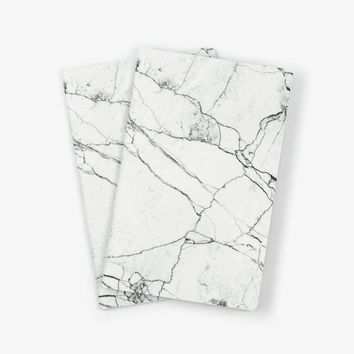 White Marble Notebook 2PK