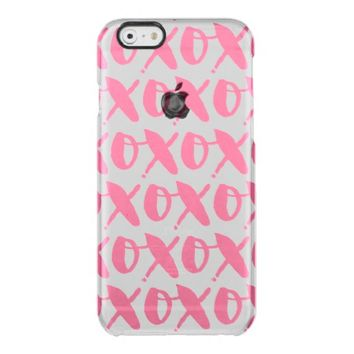 Pink XOXO - Valentines Day Uncommon Clearly™ Deflector iPhone 6 Case