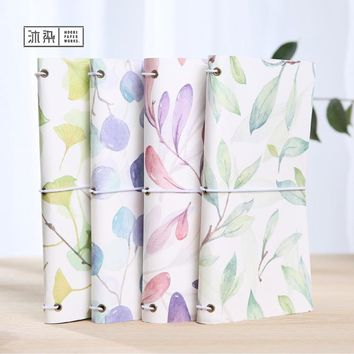 Four Season Leaves Japanese Kawaii Cute DIY Notebook Monthly Planner Daily Agendas Book Bound Travel Journal Diary Gifts caderno