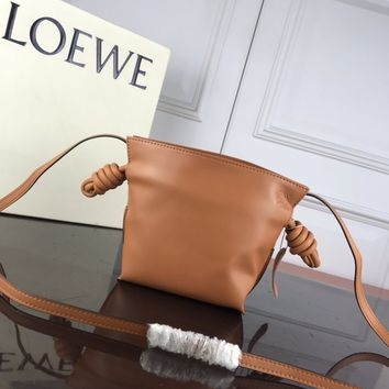DCCK2 1317 LOEWE Mini Independent pocket Cole Flowrs Fashion Shoulder bag brown