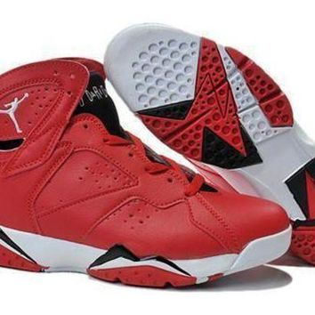 Cheap Air Jordan 7 Retro Men Shoes Red White Black