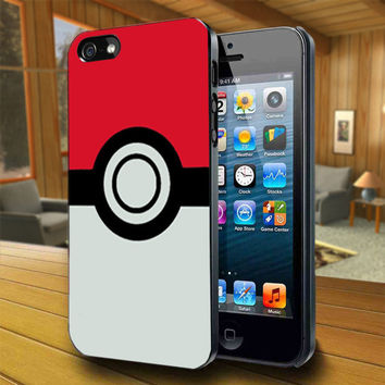 Pokeball Pokemon Pikachu - Print on Hard Cover For iPhone 4/4S and iPhone 5 Case - Please Leave Message For Device And Colour Case