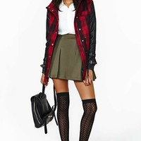 Nasty Gal Off Duty Jacket - Plaid