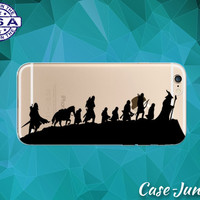 Lord Of The Rings Silhouettes Black Characters LOTR iPhone 5 iPhone 5C iPhone 6 iPhone 6s iPhone 6s Plus and iPhone SE iPhone 7 Clear Case