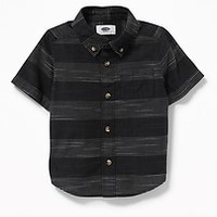 Pindot-Stripe Dobby Shirt for Toddler Boys|old-navy