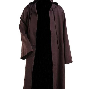 New Arrival Star Wars Kenobi Jedi Tunic Men Hooded Brown Cape Robe Cosplay Costume Cloak Outfit Movie