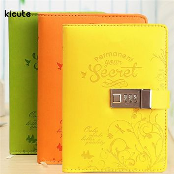 Brand New Leather Diaries Journal Notebook Secret Leather Diary with Lock Password Lined Business Office School Supplies