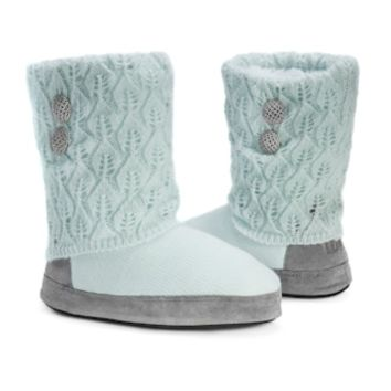 MUK LUKS Women's Sofia Pointelle Knit Boot Slippers | null
