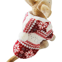 Red Snowflake Winter Dog Sweater