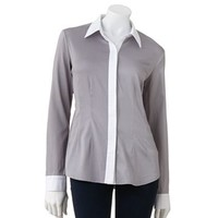 Apt. 9 Solid Colorblock Shirt - Women's