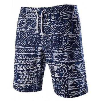 Men's Trendy Lace Up Printed Boardshorts