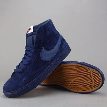 Trendsetter Nike Blazer Mid Suede Vntg  Women Men Fashion Casual  Old Skool High-Top Shoes