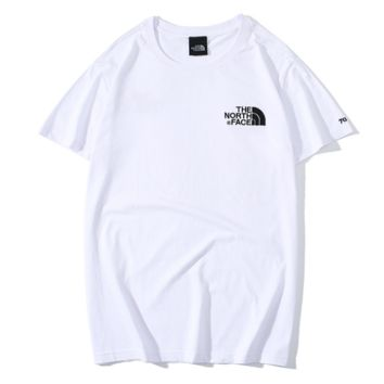 The North Face New fashion embroidery letter couple top t-shirt White