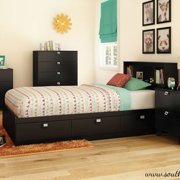 South Shore Karma Mate's Bed Box with Storage   Wayfair