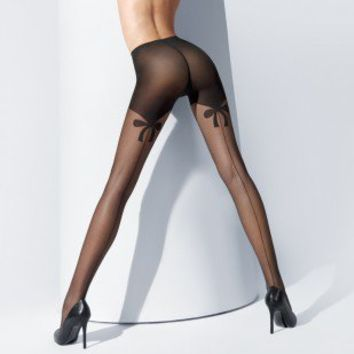 Buy Wolford Luxury Lingerie - Wolford Secret Bows tights  | Journelle Fine Lingerie