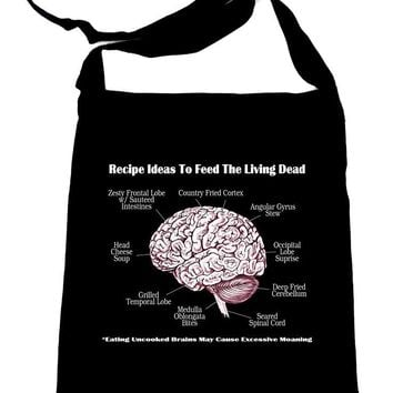 Cooking Human Brains Recipes Crossbody Sling Bag Walking Dead