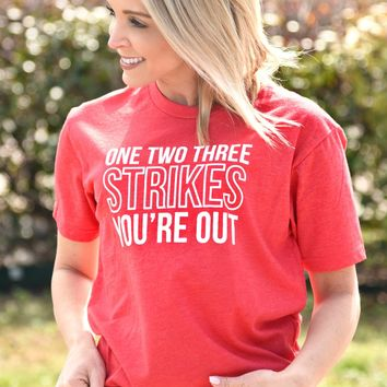 You're Out Tee - Red