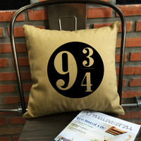 Platform 9 3/4 throw pillow cover Harry potter Throw Pillow cover