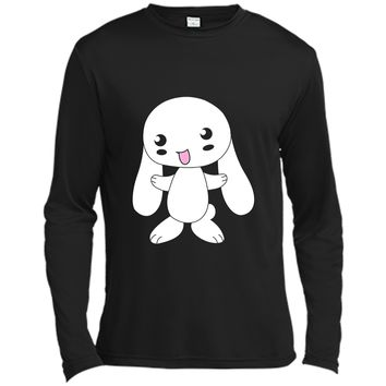 Cute Japanese Anime Style White Rabbit T-shirt